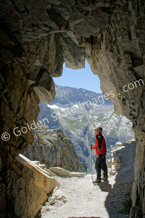 The only trail tunnel in the High Sierra.
