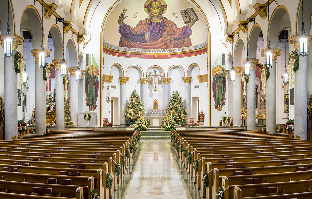 Sacred Heart of Jesus Catholic Church is decorated for the 2017 Christmas season.