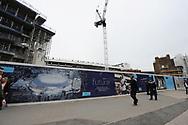 A general view outside the old and the new building work in progress at White Hart Lane Stadium. English Premier League match at the White Hart Lane Stadium, London. Picture date: April 30th, 2017.Pic credit should read: Robin Parker/Sportimage