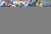 BILDET INNGÅR IKEK I FASTAVTALER. ALL NEDLASTING BLIR FAKTURERT.<br /> <br /> Fotball<br /> Tyskland<br /> Foto: imago/Digitalsport<br /> NORWAY ONLY<br /> <br /> Deutschland, Hamburg , Volkspark Stadion, Fussball, 1. Bundesliga, Saison 2016 / 2017 , Hamburger Sportverein (HSV) - FC Ingolstadt 04 (Ingolstadt), Einschwören der Ingolstädter, Moritz Hartmann, Tobias Levels, omain Bregerie, Pascal Groß, Roger, Torwart Örjan Nyland(Ingolstadt)<br /> Ørjan Håskjold Nyland