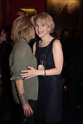 RACHEL JOHNSON, JANE THYNNE, Literary Review  40th anniversary party and Bad Sex Awards,  In & Out Club, 4 St James's Square. London. 2 December 2019