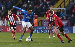 Ivan Toney of Peterborough United in action against Lincoln City - Mandatory by-line: Joe Dent/JMP - 01/01/2020 - FOOTBALL - Sincil Bank Stadium - Lincoln, England - Lincoln City v Peterborough United - Sky Bet League One