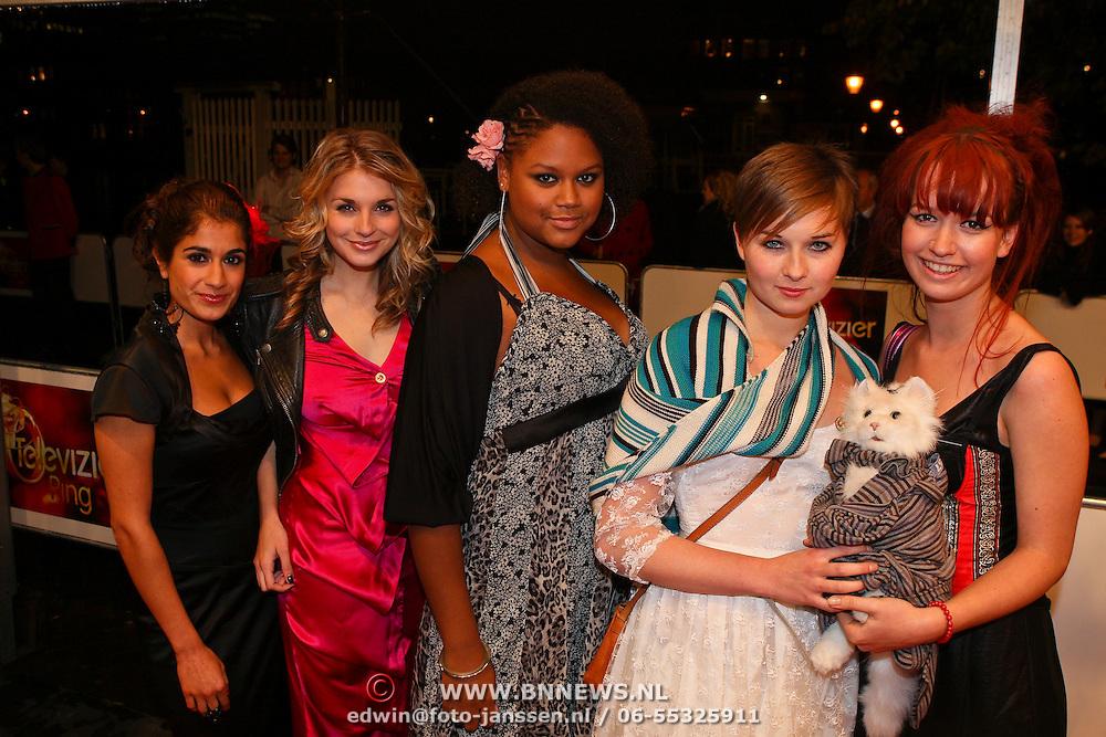 NLD/Amsterdam/20081024 - Uitreiking Televizier gala 2008, Spangas cast, Gaby Blaaser,