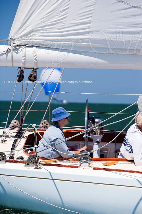 Weatherly sailing in the Nantucket 12 Meter Class Regatta.
