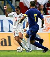 ◊Copyright:<br />GEPA pictures<br />◊Photographer:<br />Thomas Karner<br />◊Name:<br />Baros<br />◊Rubric:<br />Sport<br />◊Type:<br />Fussball<br />◊Event:<br />FIFA WM 2006, Qualifikation, Tschechien vs Andorra, CZE vs AND<br />◊Site:<br />Liberec, Tschechien<br />◊Date:<br />04/06/05<br />◊Description:<br />Milan Baros (CZE), Toni Lima (AND)<br />◊Archive:<br />DCSTK-0406054025<br />◊RegDate:<br />05.06.2005<br />◊Note:<br />OK/JM - Nutzungshinweis: Es gelten unsere Allgemeinen Geschaeftsbedingungen (AGB) bzw. Sondervereinbarungen in schriftlicher Form. Die AGB finden Sie auf www.GEPA-pictures.com.<br />Use of picture only according to written agreements or to our business terms as shown on our website www.GEPA-pictures.com
