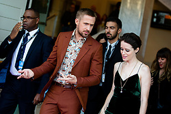 September 24, 2018 - San Sebastian, Spain - Ryan Gosling and Claire Foy attend the 'First Man' Red Carpet during the 66th San Sebastian International Film Festival on September 24, 2018 in San Sebastian, Spain. (Credit Image: © Manuel Romano/NurPhoto/ZUMA Press)