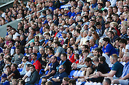 Oldham Athletic fans during the EFL Sky Bet League 1 match between Oldham Athletic and Northampton Town at Boundary Park, Oldham, England on 16 August 2016. Photo by Simon Brady.