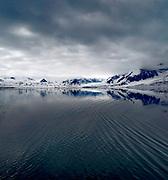 Landscape in Raudfjorden, northern Spitsbergen, Svalbard