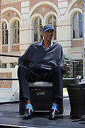 Kareem Adul-Jabbar, at the Los Angeles Times Festival of Books held at USC in Los Angeles, California on Saturday, April 22, 2017