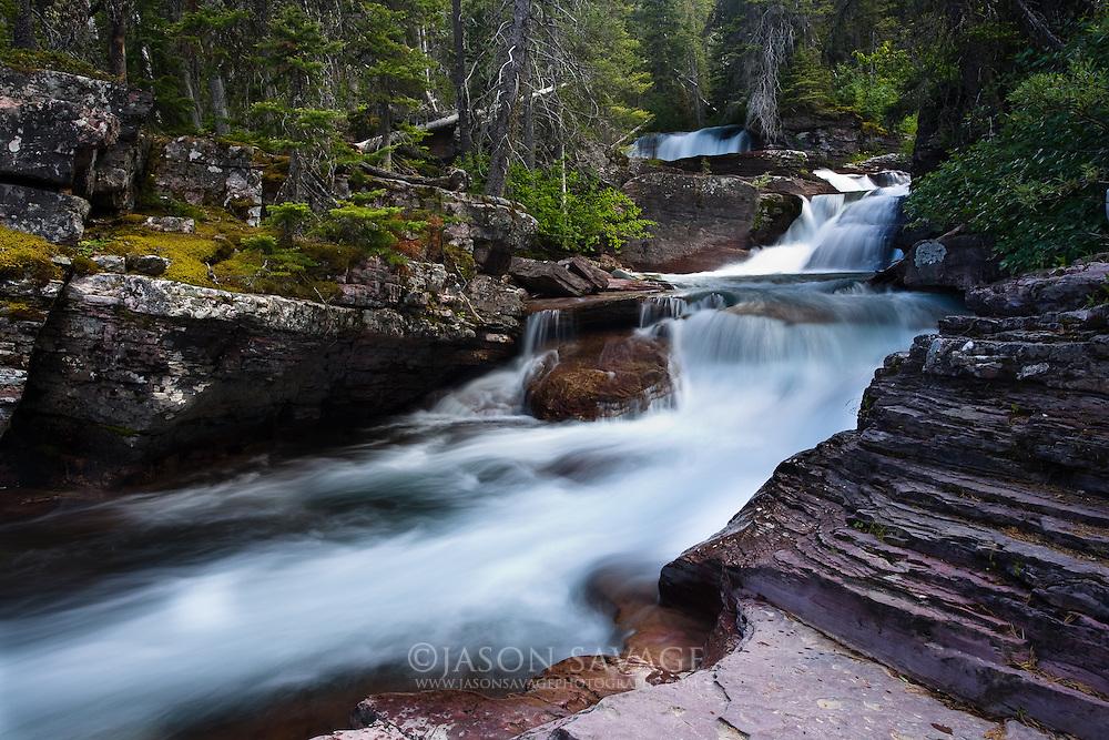 Below Virginia Falls, Glacier National Park. Montana.6