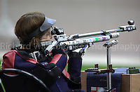Paralympics London 2012 - ParalympicsGB - Shooting Womens R2-10m Air Rifle Standing - SH1 Heats 30th August 2012.  .Deanna Coates competing in the Womens R2-10m Air Rifle Standing - SH1 Heats at the Paralympic Games in London. Photo: Richard Washbrooke/ParalympicsGB