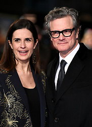 Colin Firth and Livia Giuggioli attending the Mercy premiere at the Curzon Mayfair cinema, London