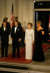 Prince Charles, Prince of Wales, and Diana, Princess of Wales, visit Washington DC. Gala Dinner at the White House, President of the USA Ronald Reagan and the First Lady Nancy Reagan. EXPA Pictures © 2016, PhotoCredit: EXPA/ Photoshot/ John Shelley Collection<br /> <br /> *****ATTENTION - for AUT, SLO, CRO, SRB, BIH, MAZ, SUI only*****