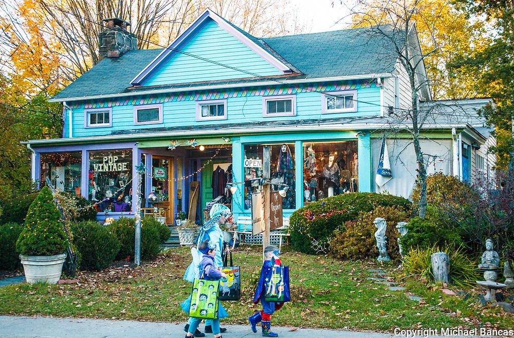 Halloween in Woodstock New York on Tinker Street