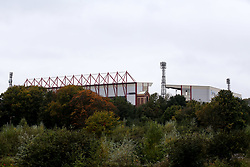 A general view of Oakwell, home to Barnsley overlooking the site of the former Barnsley Brewery - Mandatory by-line: Robbie Stephenson/JMP - 17/10/2020 - FOOTBALL - Oakwell Stadium - Barnsley, England - Barnsley v Bristol City - Sky Bet Championship