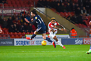 Mallik Wilks of Doncaster Rovers (7) shoots during the EFL Sky Bet League 1 match between Doncaster Rovers and Southend United at the Keepmoat Stadium, Doncaster, England on 12 February 2019.