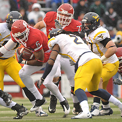 Dec 5, 2009; Piscataway, NJ, USA; Rutgers wide receiver Mohamed Sanu (6) runs through the middle during first half NCAA Big East college football action between Rutgers and West Virginia at Rutgers Stadium.