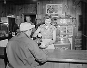 Y-501108-08.  Coffee shop in Timberline Lodge. November 8, 1950