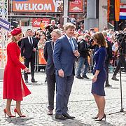 NLD/Groningen/20180427 - Koningsdag Groningen 2018, Koning Willem Alexander, Koningin Maxima