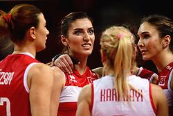 09-01-2016 TUR: European Olympic Qualification Tournament Turkije - Italie, Ankara<br /> De strijd om de tweede Japan ticket wordt gewonnen door Italie. Turkije verliest in de 5de set met 13-15 / Neslihan Demir Guler #17 of Turkey