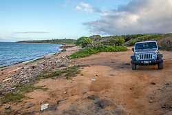 Rental Jeep At Shipwreck Beach