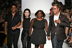 Designer Bibhu Mohapatra on the runway during the Bibhu Mohapatra Fashion show at New York Fashion Week Spring Summer 2018 held in New York, NY on September 9, 2017. (Photo by Jonas Gustavsson/Sipa USA)