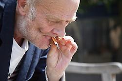 Elderly Man smoking a cigarette,
