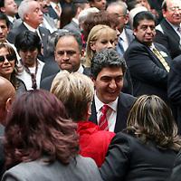Toluca,  Mex -  Ernesto Nemer Alvarez, secretario General de Gobierno durante la presentacion del Plan de  Desarrollo Estatal 2011-2017 del gobernador Eruviel Avila Villegas.   Agencia MVT / Jose Hernadez