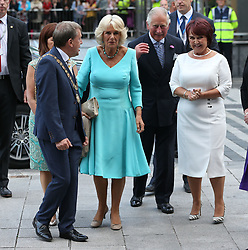 The Prince of Wales and the Duchess of Cornwall attend a dinner at Crawford Art Gallery as part of their tour of the Republic of Ireland. PRESS ASSOCIATION Photo. PRESS ASSOCIATION Photo. Picture date: Thursday June 14, 2018. See PA story ROYAL Charles. Photo credit should read: Brian Lawless/PA Wire