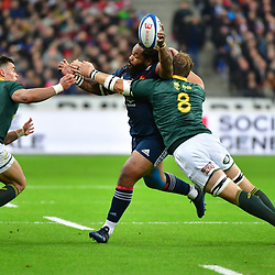 (L-R) Jesse Kriel of South Africa, Mathieu Bastareaud of France and Duane Vermeulen of South Africa during the test match between France and South Africa at Stade de France on November 18, 2017 in Paris, France. (Photo by Dave Winter/Icon Sport)
