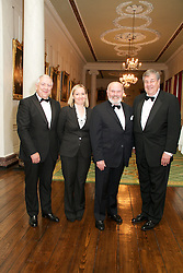 Lensmen Photographic Agency in Dublin, Ireland.<br /> Ireland-U.S. Council Hosts MidSummer.Gala Concert & Dinner in Dublin Castle, June 24, 2011..Saint Patrick's Hall, Dublin Castle, Ireland..Celebrating Handel from The Irish Baroque Orchestra and DIT Conservatory of Music and Drama...Image of left to right;.Dr. Michael  Somers, ..Dr. Michael .Somers,
