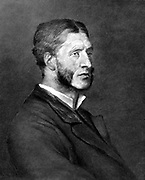 Matthew Arnold (1822-1888) British poet, critic and educationalist. Eldest son of Thomas Arnold, headmaster of Rugby School. Lithograph after portrait of Arnold c1880.