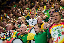 Supporters of Lithuania during basketball match between National Teams of Lithuania and Greece at Day 10 in Round of 16 of the FIBA EuroBasket 2017 at Sinan Erdem Dome in Istanbul, Turkey on September 9, 2017. Photo by Vid Ponikvar / Sportida