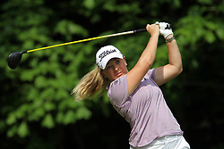 May 26, 2018 - Ann Arbor, Michigan, United States - Bronte Law of Stockport, England follows her shot from the 5th tee during the third round of the LPGA Volvik Championship at Travis Pointe Country Club, Ann Arbor, MI, USA Saturday, May 26, 2018. (Credit Image: © Amy Lemus/NurPhoto via ZUMA Press)