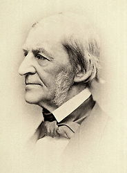 Aug. 14, 2014 - 'Ralph Waldo Emerson (1803-82), American Essayist, Lecturer and Poet and Leader of the Transcendentalist Movement, Portrait circa 1870''s' (Credit Image: © Glasshouse/ZUMA Wire)