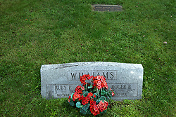 31 August 2017:   Veterans graves in Dawson Cemetery in eastern McLean County.<br /> <br /> Roger R Williams 1915  1987