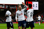 Goal - Dele Alli (20) of Tottenham Hotspur celebrates scoring a goal to make the score 1-1 with Christian Eriksen (23) of Tottenham Hotspur during the Premier League match between Bournemouth and Tottenham Hotspur at the Vitality Stadium, Bournemouth, England on 11 March 2018. Picture by Graham Hunt.