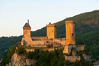 France. Ariege. Chateau de Foix. //  France. Ariege. Foix castle.