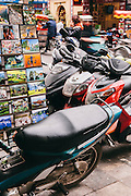 Viet Nam Motorcycle Tour, Ma May Street, Old Quarter. Hanoi, Vietnam