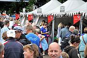 Nederland, Nijmegen, 19-7-2015 Inschrijving voor de vierdaagse. Op de Wedren schrijven lopers zich in voor de tocht die dinsdag begint.30, 40 en 50 km. 46.000 deelnemers hebben zich aangemeld. Ze krijgen een polsbandje met een barcode die de controle op het parcours makkelijker maakt. The International Four Day Marches Nijmegen, or Vierdaagse, is the largest marching event in the world. It is organized every year in Nijmegen mid-July as a means of promoting sport and exercise. Participants walk 30, 40 or 50 kilometers daily, and on completion, receive a royally approved medal, Vierdaagsekruisje. The participants are mostly civilians, but there are also a few thousand military participants. The maximum number of 45,000 registrations has been reached. More than a hundred countries have been represented in the Marches over the years. FOTO: FLIP FRANSSEN/ HOLLANDSE HOOGTEFoto: Flip Franssen/Hollandse Hoogte