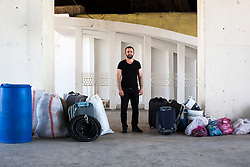 Baver, a university student. In summers he goes to Sivas to work in constructions to meet his education expenses. July 09, 2016.<br /> The Southern Kurtalan Train Express route, starting from Kurtalan, stops in Diyarbakir, Malatya, Sivas, Kayseri and Ankara from summer to fall. This train route is mostly used by seasonal workers that are living in east Turkey, but are working on the western part of the country from spring to fall. Photo by Aylin Kizil/NARphotos/ABACAPRESS.COM