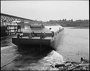 "Ackroyd 18379-6 ""Zidell Explorations Inc. launching grain barge. June 22, 1973"" (south of Ross Island Bridge)"