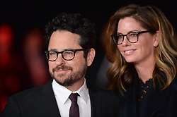 J.J. Abrams, Katie McGrath attend the world premiere of Disney Pictures and Lucasfilm's 'Star Wars: The Last Jedi' at The Shrine Auditorium on December 9, 2017 in Los Angeles, CA, USA. Photo by Lionel Hahn/ABACAPRESS.COM