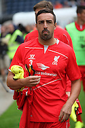 Liverpool's Jose Enrique looks on. pre-season friendly match, Preston North End v Liverpool at Deepdale in Preston, England on Saturday 19th July 2014.<br /> pic by Chris Stading, Andrew Orchard sports photography.