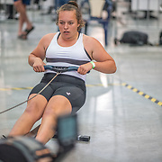 Danielle Pugh  FEMALE HEAVYWEIGHT Novice U19 1K Race #8  11:00am<br /> <br /> <br /> www.rowingcelebration.com Competing on Concept 2 ergometers at the 2018 NZ Indoor Rowing Championships. Avanti Drome, Cambridge,  Saturday 24 November 2018 © Copyright photo Steve McArthur / @RowingCelebration