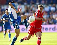 Photo: Maarten Straetemans.<br /> Shanghai Shenhua v Liverpool. Rotterdam Tournament. 03/08/2007.<br /> Fernando Torres (right) with Li Weifeng