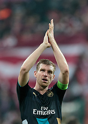 04.11.2015, Allianz Arena, Muenchen, GER, UEFA CL, FC Bayern Muenchen vs FC Arsenal, Gruppe F, im Bild Per Mertesacker (FC Arsenal) // during the UEFA Champions League group F match between FC Bayern Munich and FC Arsenal at the Allianz Arena in Munich, Germany on 2015/11/04. EXPA Pictures © 2015, PhotoCredit: EXPA/ JFK