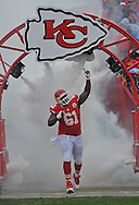 KANSAS CITY, MO - NOVEMBER 24:  Center Rodney Hudson #61 of the Kansas City Chiefs gets introduced before a game against the San Diego Chargers on November 24, 2013 at Arrowhead Stadium in Kansas City, Missouri. (Photo by Peter G. Aiken/Getty Images) *** Local Caption *** Rodney Hudson