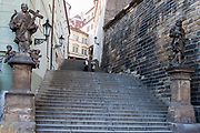 Steps In Old Town, Prague, Czech Republic