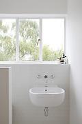 A bathroom at Warren House, Wayne McGregor's Dartington Estate home in Devon<br /> Vanessa Berberian for The Wall Street Journal